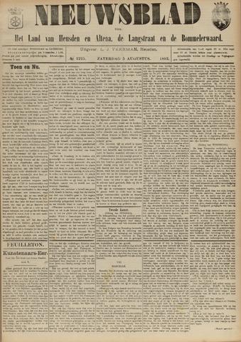 Nieuwsblad het land van Heusden en Altena de Langstraat en de Bommelerwaard 1893-08-05