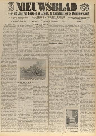 Nieuwsblad het land van Heusden en Altena de Langstraat en de Bommelerwaard 1943-08-20