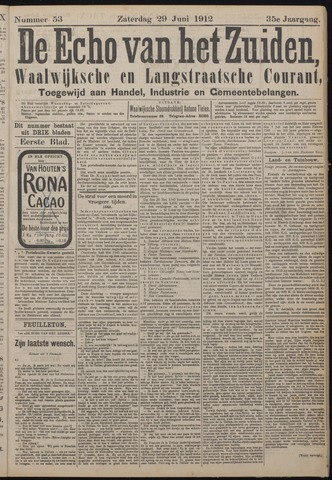 Echo van het Zuiden 1912-06-29