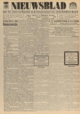 Nieuwsblad het land van Heusden en Altena de Langstraat en de Bommelerwaard 1928-12-21