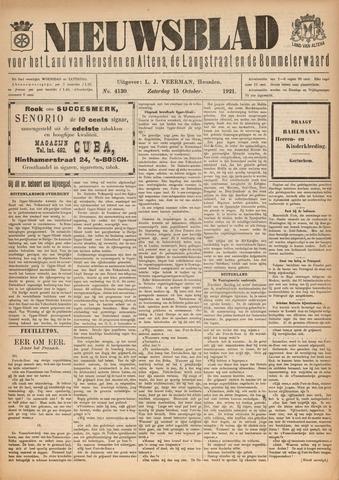 Nieuwsblad het land van Heusden en Altena de Langstraat en de Bommelerwaard 1921-10-15