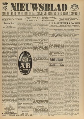 Nieuwsblad het land van Heusden en Altena de Langstraat en de Bommelerwaard 1927-10-21