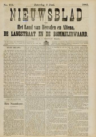 Nieuwsblad het land van Heusden en Altena de Langstraat en de Bommelerwaard 1883-06-02