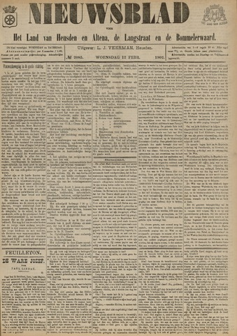 Nieuwsblad het land van Heusden en Altena de Langstraat en de Bommelerwaard 1902-02-12