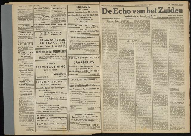 Echo van het Zuiden 1947-09-18