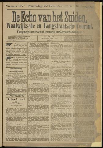 Echo van het Zuiden 1892-12-22
