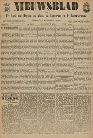 Nieuwsblad het land van Heusden en Altena de Langstraat en de Bommelerwaard 1895-08-07