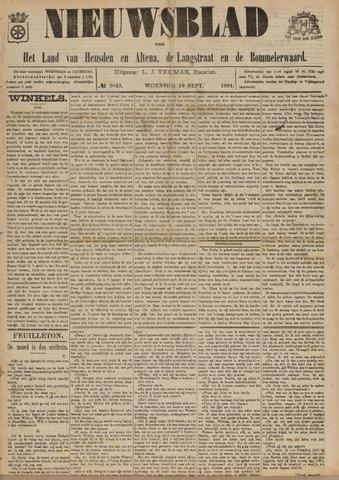 Nieuwsblad het land van Heusden en Altena de Langstraat en de Bommelerwaard 1901-09-18
