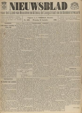 Nieuwsblad het land van Heusden en Altena de Langstraat en de Bommelerwaard 1920-09-29