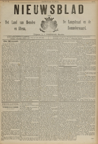 Nieuwsblad het land van Heusden en Altena de Langstraat en de Bommelerwaard 1891-07-11