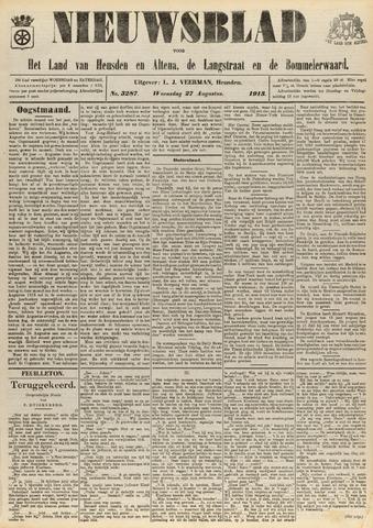 Nieuwsblad het land van Heusden en Altena de Langstraat en de Bommelerwaard 1913-08-27