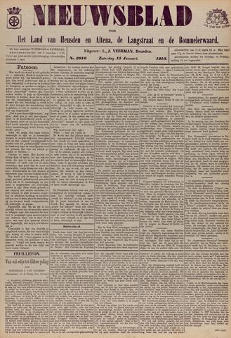 Nieuwsblad het land van Heusden en Altena de Langstraat en de Bommelerwaard 1910-01-15