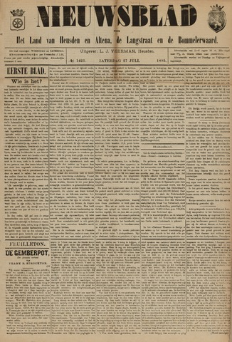 Nieuwsblad het land van Heusden en Altena de Langstraat en de Bommelerwaard 1895-07-27
