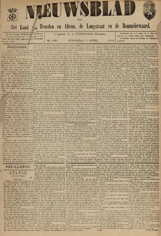 Nieuwsblad het land van Heusden en Altena de Langstraat en de Bommelerwaard 1895-04-03
