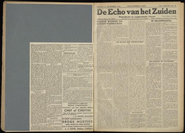 Echo van het Zuiden 1946-09-24