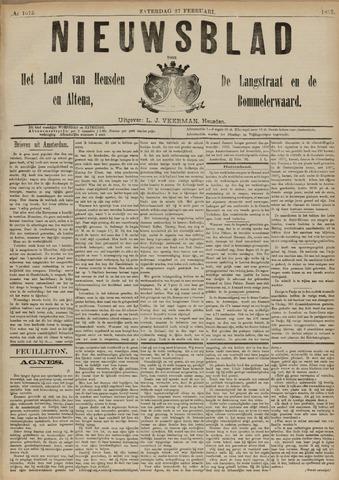 Nieuwsblad het land van Heusden en Altena de Langstraat en de Bommelerwaard 1892-02-27