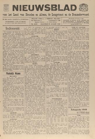 Nieuwsblad het land van Heusden en Altena de Langstraat en de Bommelerwaard 1949-01-31