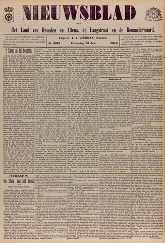 Nieuwsblad het land van Heusden en Altena de Langstraat en de Bommelerwaard 1910-07-13
