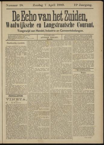 Echo van het Zuiden 1889-04-07