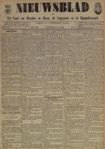 Nieuwsblad het land van Heusden en Altena de Langstraat en de Bommelerwaard 1894-07-18