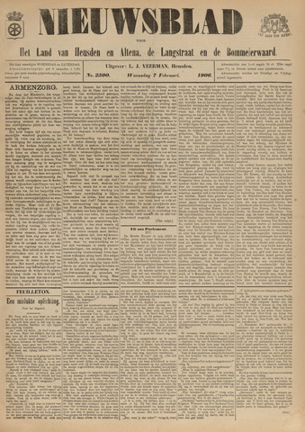 Nieuwsblad het land van Heusden en Altena de Langstraat en de Bommelerwaard 1906-02-07
