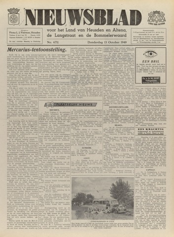Nieuwsblad het land van Heusden en Altena de Langstraat en de Bommelerwaard 1949-10-13