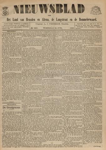 Nieuwsblad het land van Heusden en Altena de Langstraat en de Bommelerwaard 1903-06-24