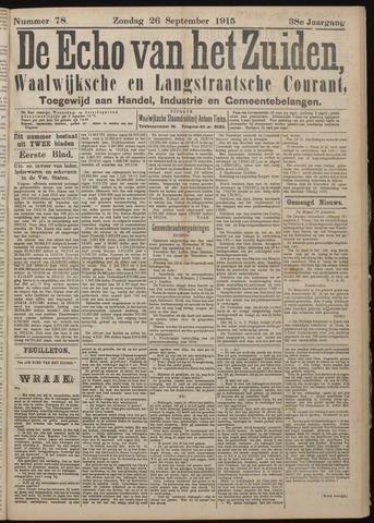 Echo van het Zuiden 1915-09-26