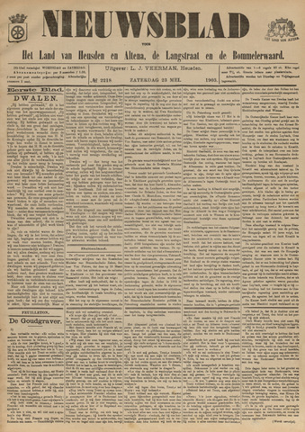 Nieuwsblad het land van Heusden en Altena de Langstraat en de Bommelerwaard 1903-05-23