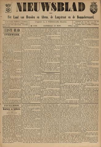 Nieuwsblad het land van Heusden en Altena de Langstraat en de Bommelerwaard 1894-11-17