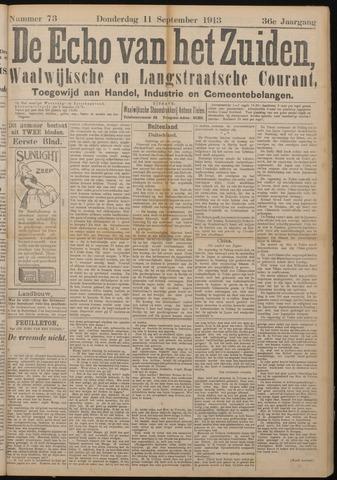 Echo van het Zuiden 1913-09-11