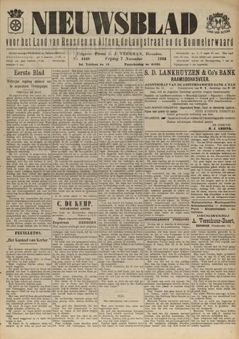Nieuwsblad het land van Heusden en Altena de Langstraat en de Bommelerwaard 1924-11-07