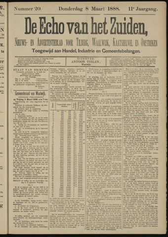Echo van het Zuiden 1888-03-08