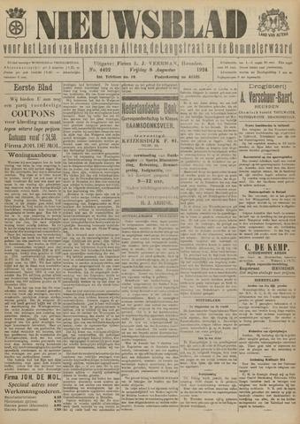 Nieuwsblad het land van Heusden en Altena de Langstraat en de Bommelerwaard 1924-08-08