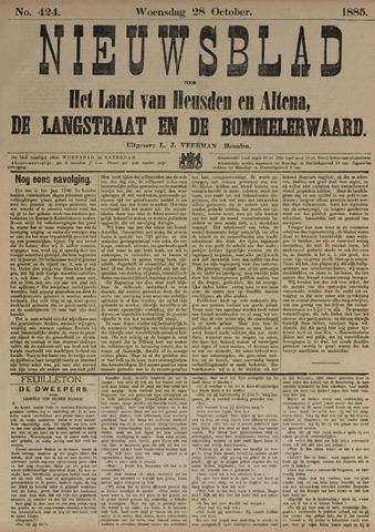 Nieuwsblad het land van Heusden en Altena de Langstraat en de Bommelerwaard 1885-10-28