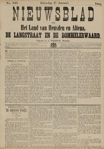 Nieuwsblad het land van Heusden en Altena de Langstraat en de Bommelerwaard 1885-01-17