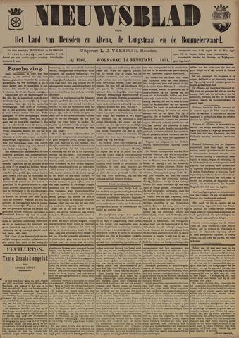 Nieuwsblad het land van Heusden en Altena de Langstraat en de Bommelerwaard 1894-02-14