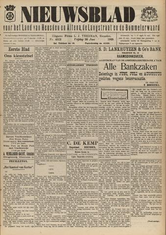 Nieuwsblad het land van Heusden en Altena de Langstraat en de Bommelerwaard 1925-06-26