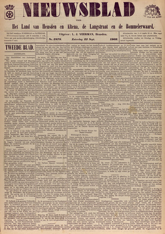 Nieuwsblad het land van Heusden en Altena de Langstraat en de Bommelerwaard 1909-09-25