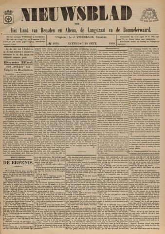 Nieuwsblad het land van Heusden en Altena de Langstraat en de Bommelerwaard 1903-09-19