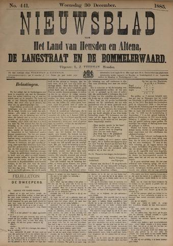 Nieuwsblad het land van Heusden en Altena de Langstraat en de Bommelerwaard 1885-12-30