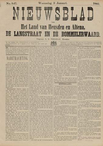 Nieuwsblad het land van Heusden en Altena de Langstraat en de Bommelerwaard 1887-01-05