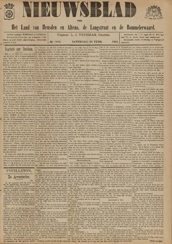 Nieuwsblad het land van Heusden en Altena de Langstraat en de Bommelerwaard 1901-02-23