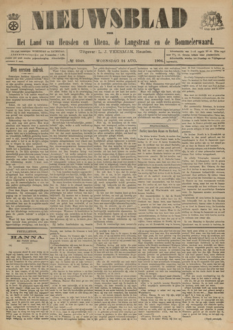 Nieuwsblad het land van Heusden en Altena de Langstraat en de Bommelerwaard 1904-08-24