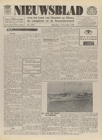 Nieuwsblad het land van Heusden en Altena de Langstraat en de Bommelerwaard 1949-11-07