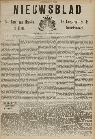 Nieuwsblad het land van Heusden en Altena de Langstraat en de Bommelerwaard 1891-07-25