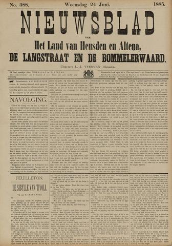 Nieuwsblad het land van Heusden en Altena de Langstraat en de Bommelerwaard 1885-06-24