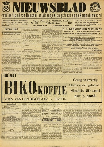 Nieuwsblad het land van Heusden en Altena de Langstraat en de Bommelerwaard 1927-03-25
