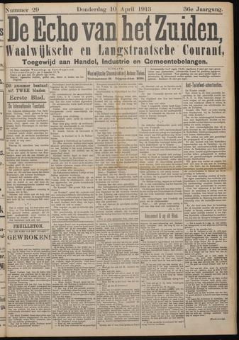 Echo van het Zuiden 1913-04-10