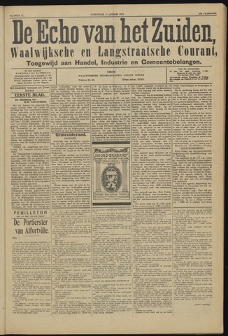 Echo van het Zuiden 1923-01-31